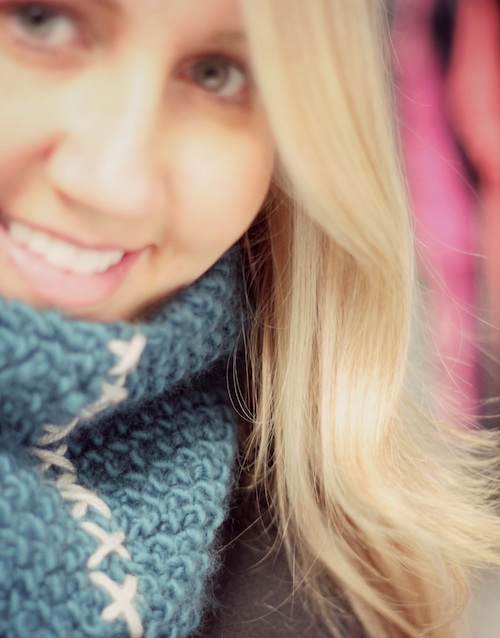 Knitted Cobblestone Cowl - from Marta with Love